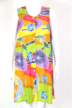 1990s Women's Summer Rainbow Mini Dress - Multi L