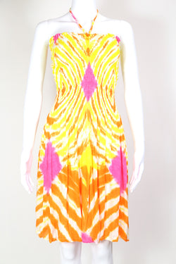 1990s Women's Tie Dye Midi Dress - Multi S