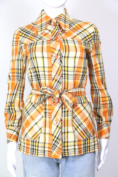1970s Women's Checked Jacket - Multi XS