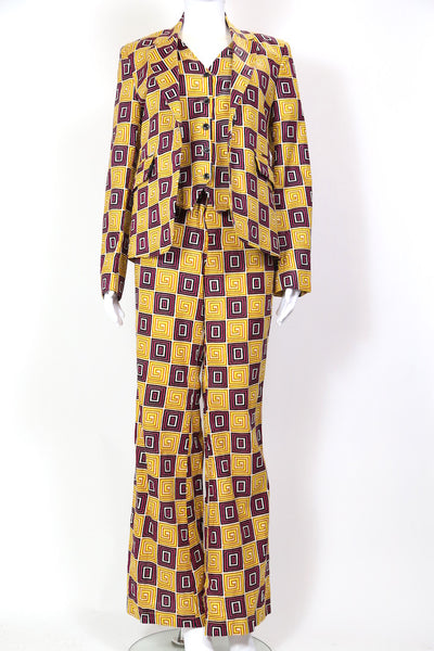 1970s Women's Swirl Print Suit Co-ord - Multi 28W