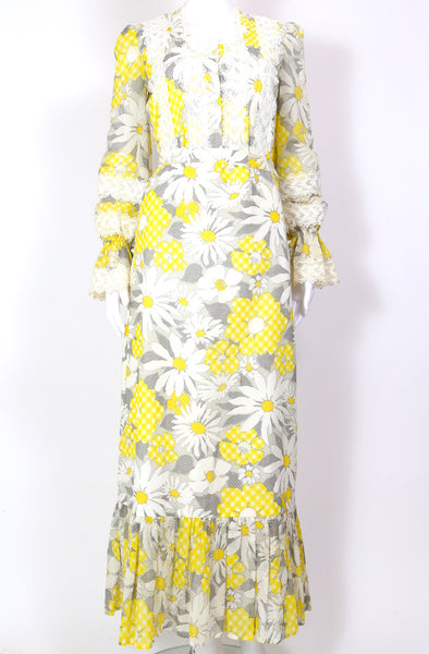 1970s Women's Daisy Print Co-ord - Multi XS
