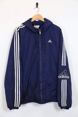 Adidas Coat Vintage Adidas Hooded Jacket