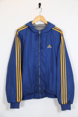 Adidas Jacket L / blue / nylon Men's Adidas Reversible Jacket - Blue L