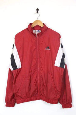 Men's Adidas Windbreaker Jacket - Red M