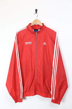 Men's Adidas Windbreaker Jacket - Red XL