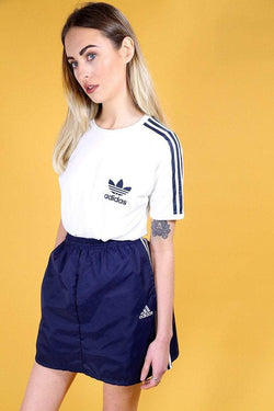 Reworked Adidas Sports Skirt - Blue M - Loot Vintage
