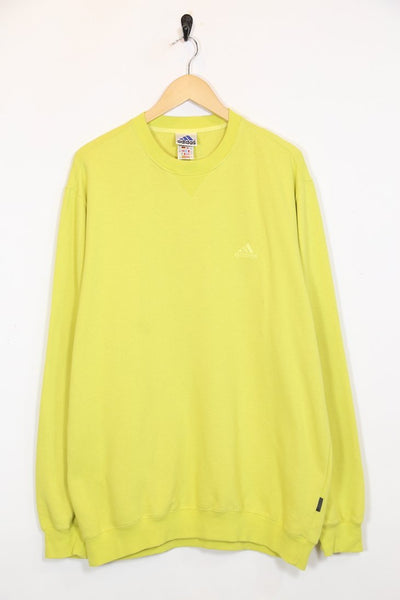 Adidas Sweatshirt L / yellow / polyester Mens Adidas Sweatshirt - Yellow L