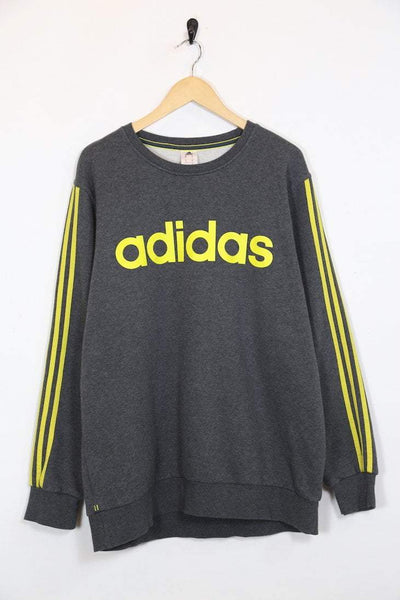 Adidas Sweatshirt XL / grey / polyester Mens Adidas Sweatshirt - Grey XL