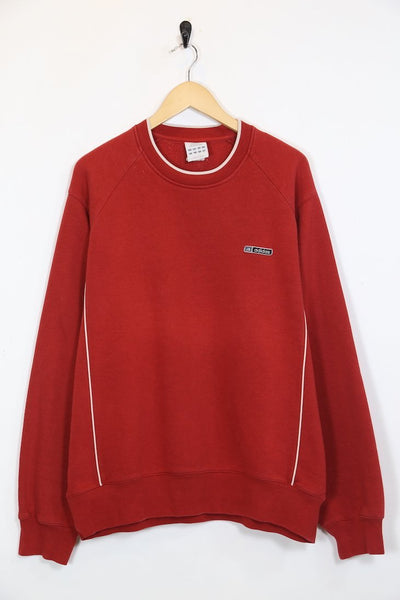Adidas Sweatshirt XL / Red / Cotton Men's Adidas Sweatshirt - Red XL