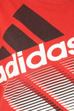 Adidas T-Shirt 12 / red Vintage Adidas Red Graphic Logo Tee