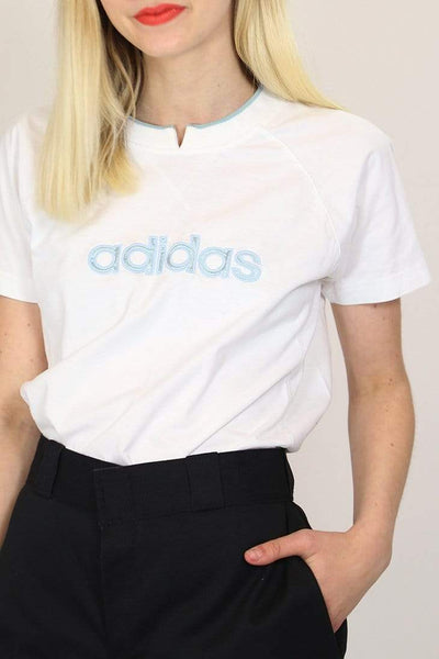 Adidas T-Shirt M / White / Cotton Women's Adidas T-Shirt - White M