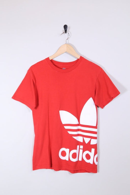 Adidas T-Shirt s / red / cotton Men's Adidas T-shirt - Red S