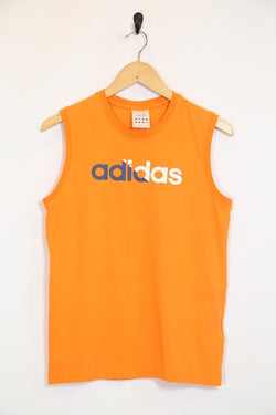 Adidas Vest S / Orange / Cotton Men's Adidas Vest - Orange S