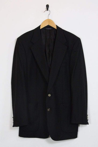Burberry Blazer large / black Vintage Burberry Mens Black Blazer