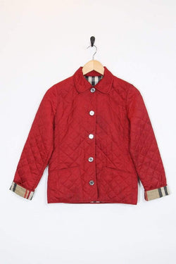 Burberry Coat Vintage Red Burberry Padded Jacket