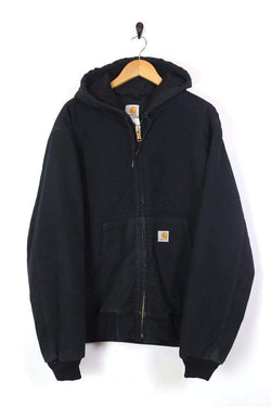 Men's Carhartt Hooded Coat - Black XL