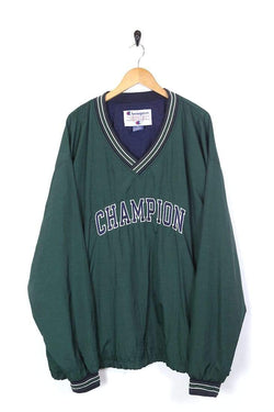 Champion Jacket Men's Champion 1/4 Zip Pullover Jacket - Green XXL