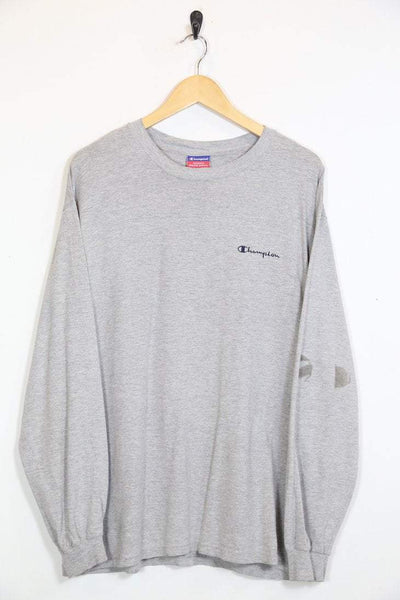 Champion T-Shirt L / grey / cotton Men's Champion Long Sleeve T-Shirt - Grey L