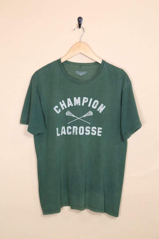 Champion T-Shirt S / green / cotton Men's Champion T-Shirt - Green S