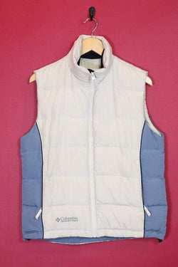 Columbia Jacket 12 / white Vintage Columbia Cream and Blue Vest