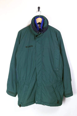 Men's Columbia Technical Jacket - Green M