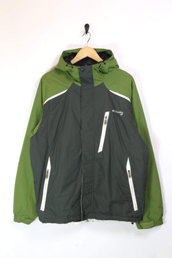 Men's Columbia Technical Jacket - Green L