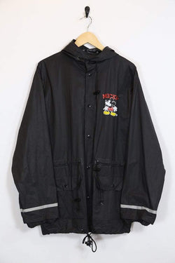 Men's Mickey Mouse Anorak - Black ONE SIZE