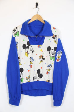 Women's 80's Disney Sweater - Blue M