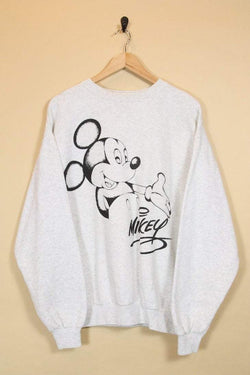 Men's Mickey Mouse Sweatshirt - Grey L