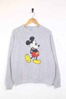 Disney Sweatshirt Women's Mickey Mouse Disney Sweatshirt - Grey L