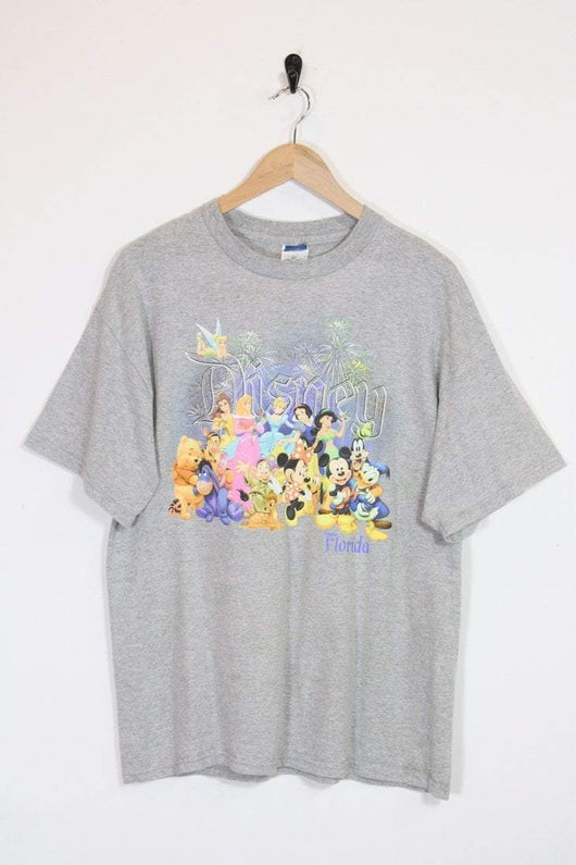 Women's Disney Character T-shirt - Grey L