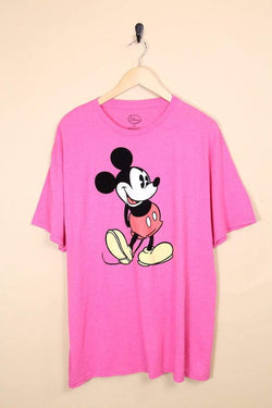 Men's Mickey Mouse T-Shirt - Pink M