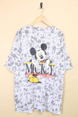 Men's Mickey Mouse T-Shirt - Grey XL