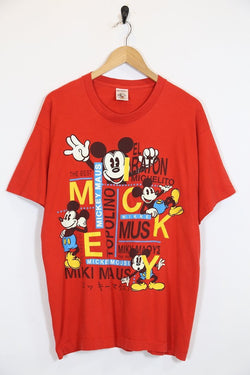 Men's Mickey Mouse T-shirt - Red M