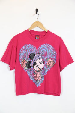 Disney T-Shirt Vintage Minnie Mouse Cropped Tee