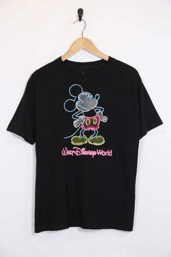 Disney T-Shirt Vintage Neon Mickey Mouse T-Shirt