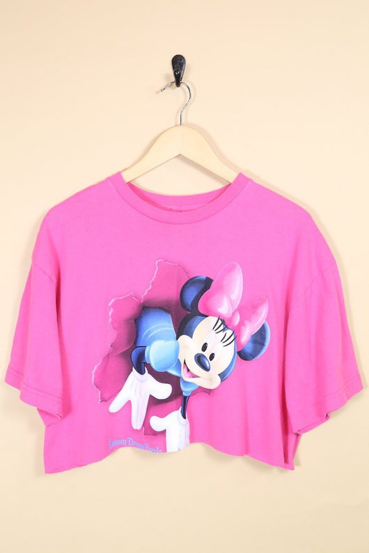 Disney T-Shirt Vintage Reworked Cropped Tee