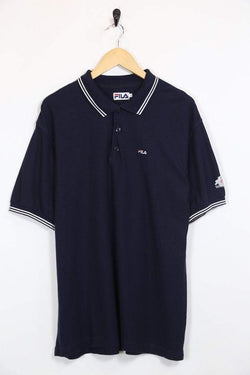 Fila Polo Shirt XL / Blue / Cotton Men's Fila Polo Shirt - Blue XL
