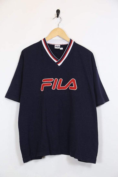Fila T-Shirt L / Blue / Cotton Men's Fila T-Shirt - Blue L