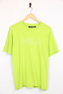 Fila T-Shirt S / Green / Cotton Men's Fila T-Shirt - Green S