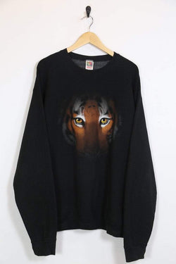 Fruit of the Loom Sweatshirt Vintage Tiger Fruit of the Loom Sweatshirt