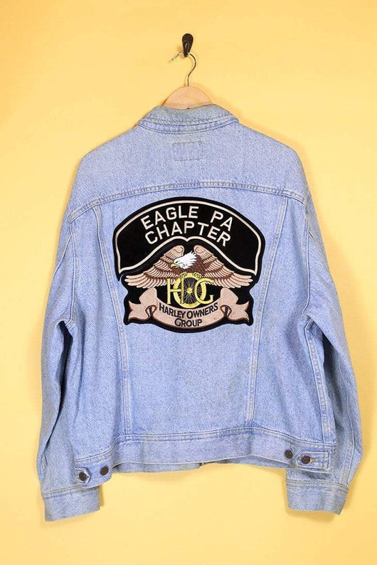 Harley Davidson Jacket Vintage Lee 'Harley' Patch Denim Jacket