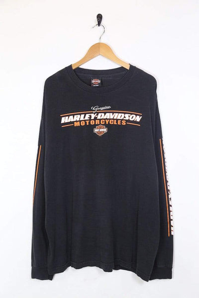 Harley Davidson T-Shirt Men's Harley Davidson Long Sleeved T-Shirt - Black XL