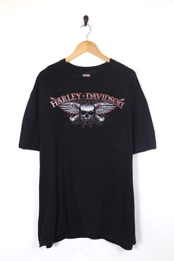 1990s Men's Harley Davidson T-Shirt - Black XXL