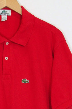 Lacoste Polo Shirt L / red Red Lacoste Polo Shirt