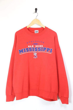 Lee Sweatshirt XL / Red / Cotton Men's Lee Mississippi Printed Sweatshirt - Red XL