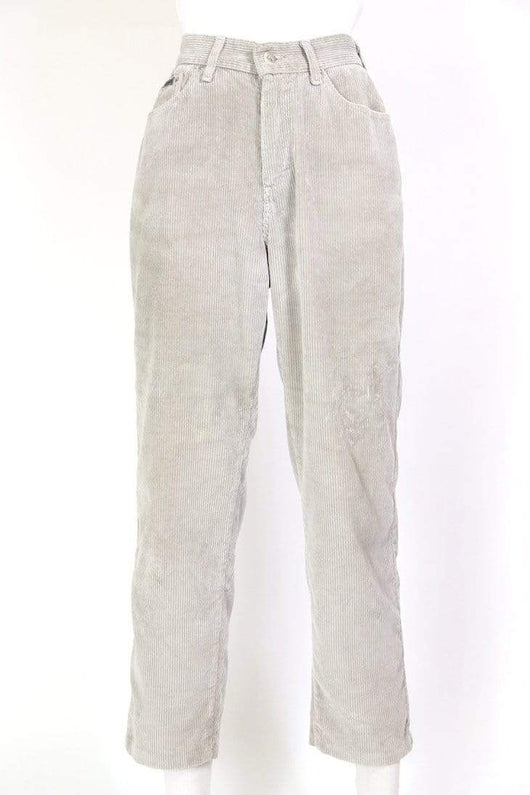 Lee Trousers Women's Super High Rise Corduroy Trousers - Grey M