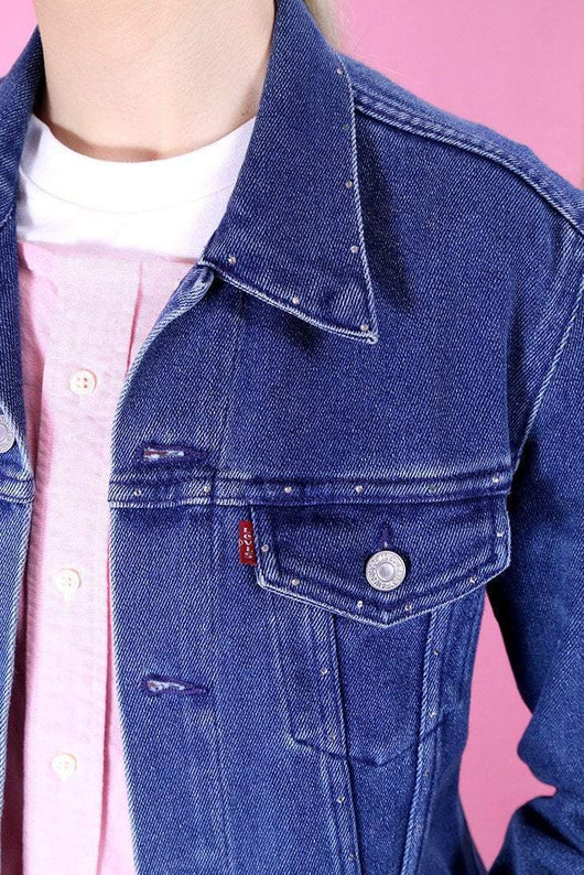 Levis Jacket 10 / Blue Vintage Levi's Studded Jacket