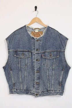 Levis Jacket XL / blue Vintage Levi's Sleeveless Jacket