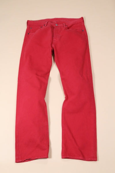 Levis Jeans 34W / Red Vintage Levi's Red 501 Fit Jeans